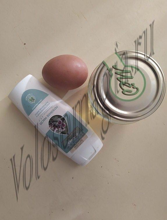 домашняя Медово-желтковая маска с репейным маслом фото