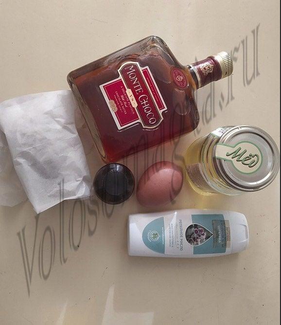 Витаминная маска с репейным маслом и коньяком и дрожжами фото . Как сделать дома