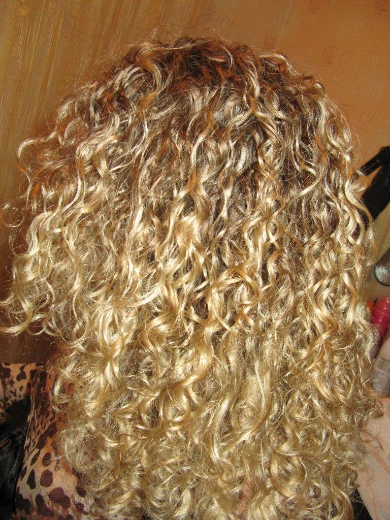Японская завивка на окрашенные волосы
