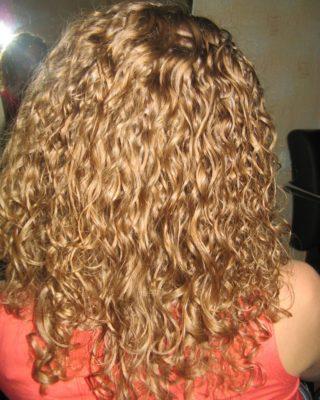 Завивка на натуральный неокрашеный волос