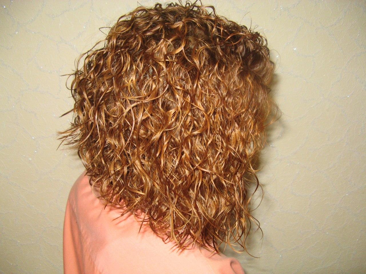 Химическая завивка на волосы средней длины