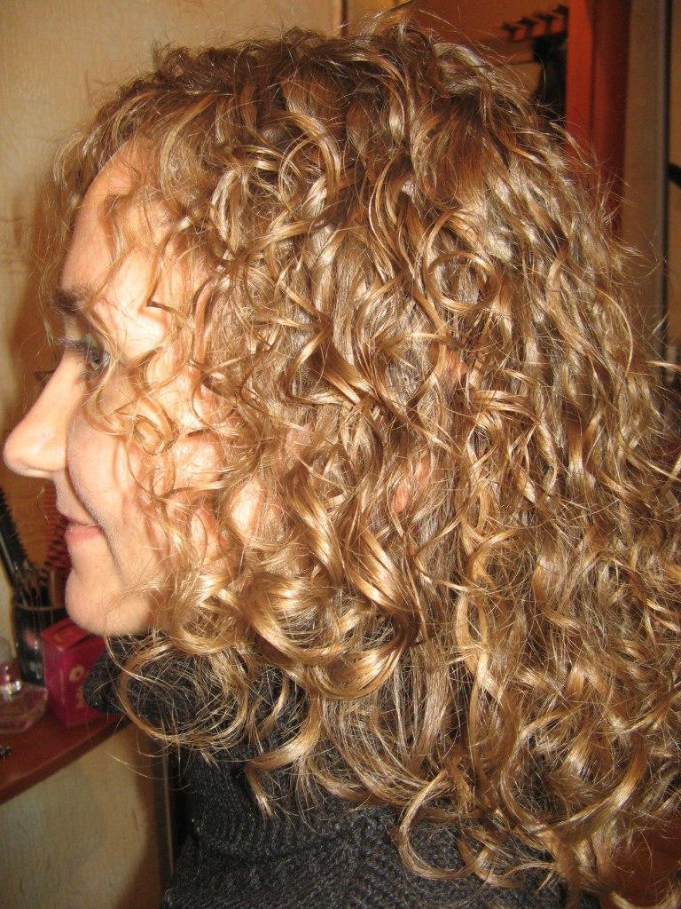 Завивка на натуральный трудноподдающийся волос