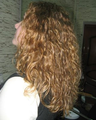 Завивка на натуральный немного поврежденный волос