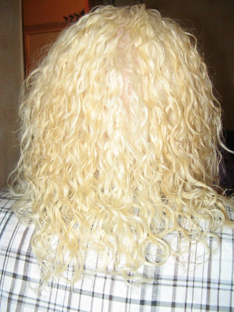 Хим. завивка на обесцвеченный волос