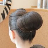 Пучок на густые волосы