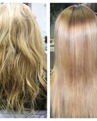 Ламинирование светлых волос - до и после процедуры