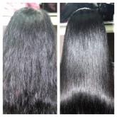Ламинирование темных окрашенных поврежденных волос