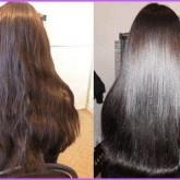 Ламинирование волос делает волосы тяжелее, процедура убирает волнистость волос