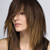 Рваный эффект средних волос