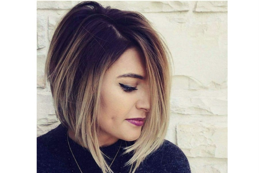 Женская стрижка на средние волосы фото