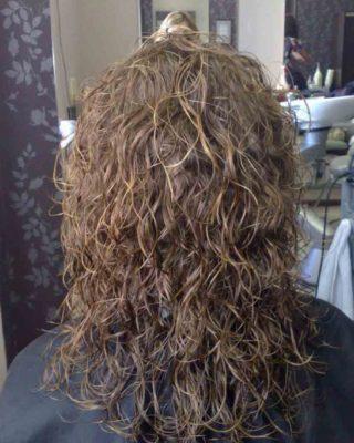 Прическа - эффект мокрых волос