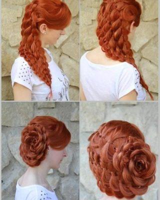 Роза из нескольких кос