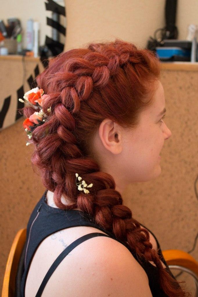Причёски на длинные волосы на рыжие волосы