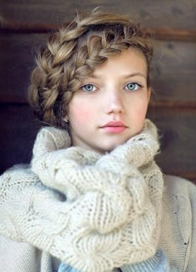 Нежный образ с плетением