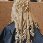 Вид сзади прически с косами