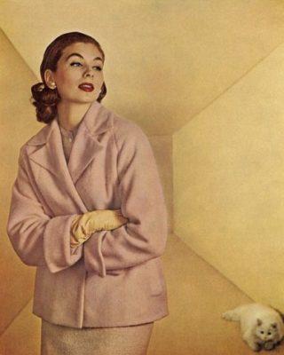 Фото из журнала мод. Вид спереди.