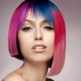 Фото асимметрии и яркими красками. Вид спереди.
