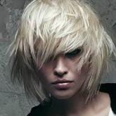 Фото прически на белых волосах. Вид спереди.