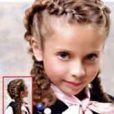 Фото двух кос. Вид спереди и сбоку.