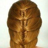 Фото прически на рыжих волосах. Вид сзади.