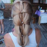 Фото просто прически из длинных волос. Вид сзади.