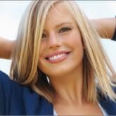 Естественное мелирование не светлых волосах