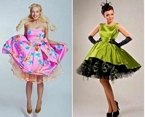 Фото девушек в платьях стиляги