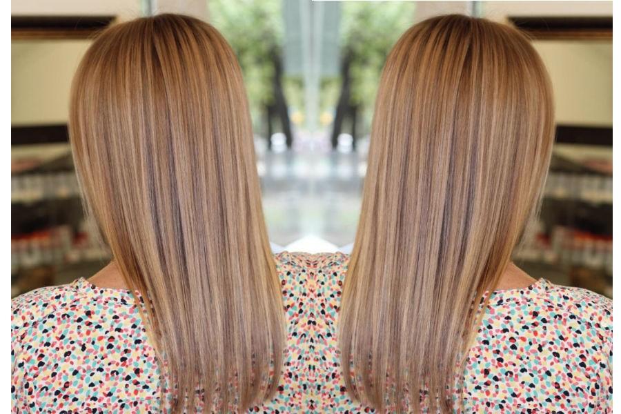 венецианское мелирование на светлые волосы фото