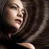 Гладкие блестящие волосы отливают красивым темным оттенком