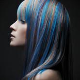Удивительное сочетание необычных цветов на волосах