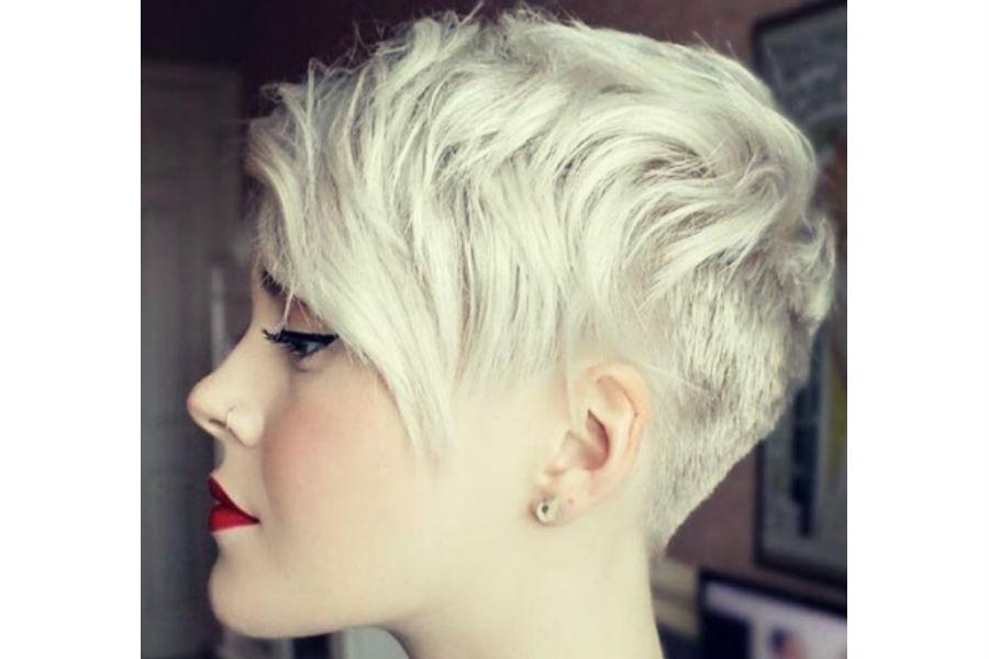 Прическа пикси на средние волосы фото