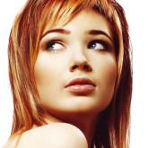 Легкое колорирование на ярко-рыжих волосах
