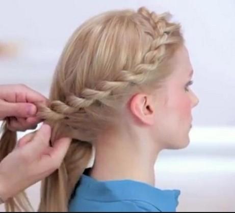 Как сделать себе косу жгут 391