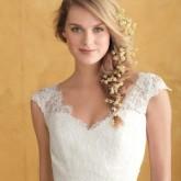 Романтичный свадебный образ с легкой косой