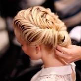 Элегантное круговое плетение откроет красивое лицо невесты