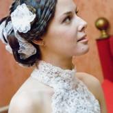 Оригинальное плетение сеточкой подойдет любой невесте
