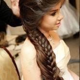 Необычная коса с двойным плетением сделает вашу свадебную прическу максимально оригинальной