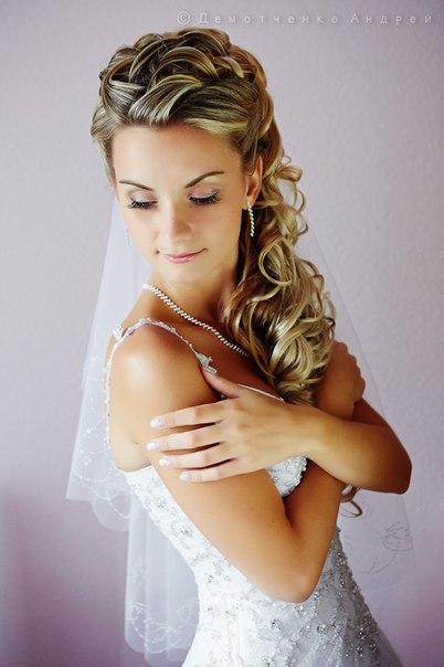 Свадебная прическа на длинные тонкие волосы