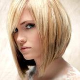 Удлиненное боб каре на светлые волосы