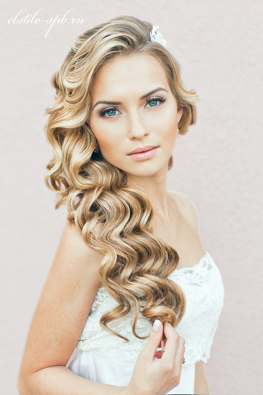 Прически для средних волос с распущенными