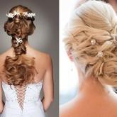 Оригинальность косы может состоять не только в необычном плетении, но и в пышном начесе из волос на конце