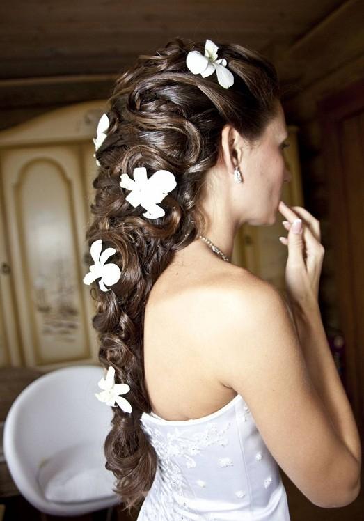 Фото с свадебными прическами на длинные волосы