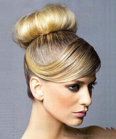 Причёска пучок из волос