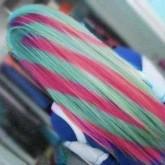 Оригинальное цветное окрашивание волос