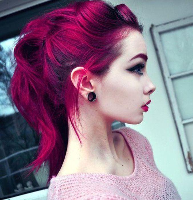 Розово фиолетовый цвет волос