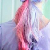 Необычное сочетание розового и голубого