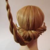 Хвост можно оформить косой
