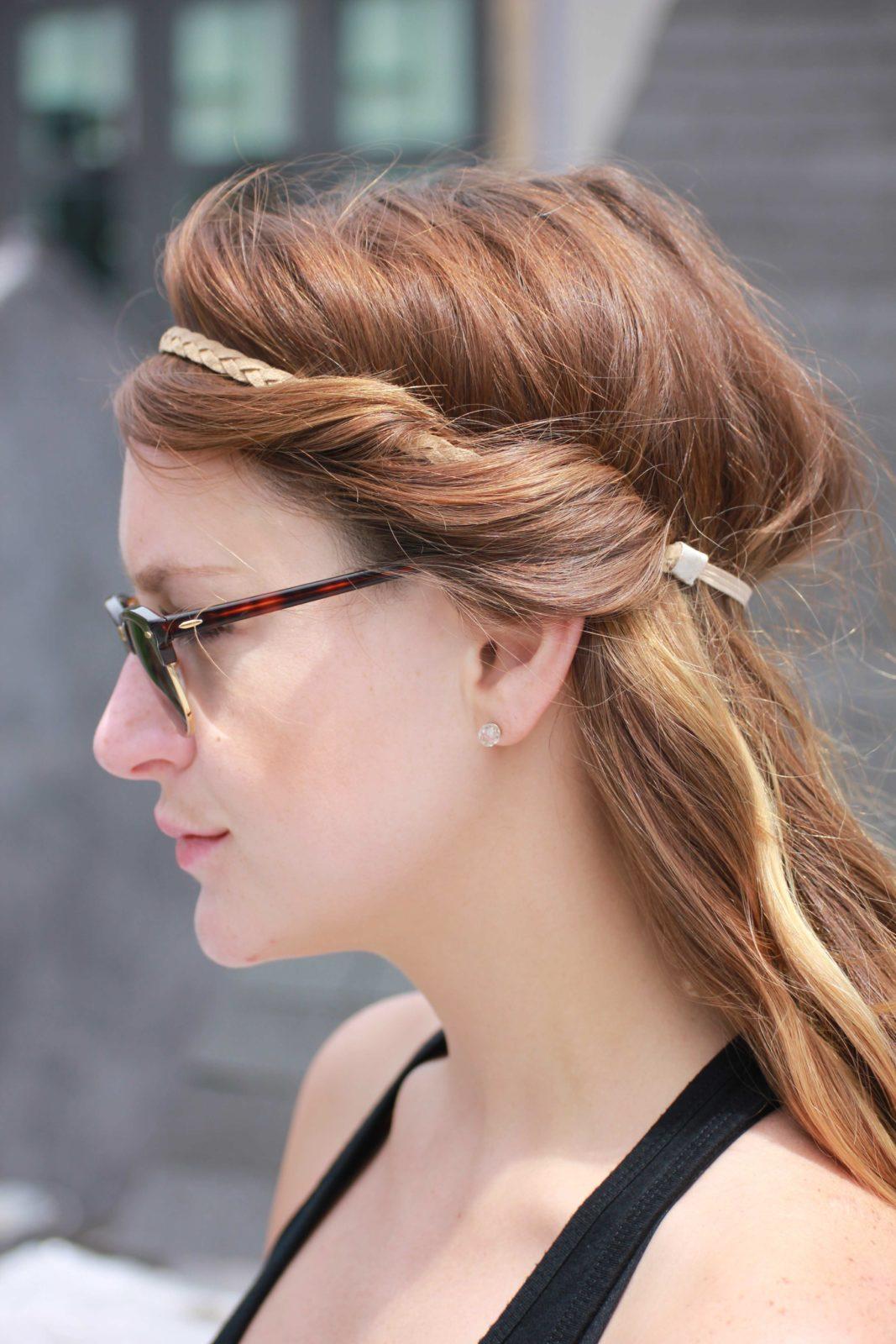Ободок для греческой прически на длинные волосы