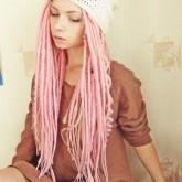 Нежно-розовые дредлоки