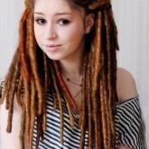 Оригинальные разноцветные волосы